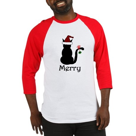 Merry Christmas Cat Baseball Jersey