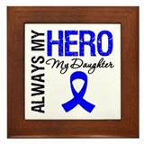 AlwaysMyHero Daughter Framed Tile