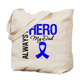 AlwaysMyHero Dad Tote Bag