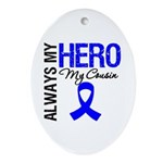 AlwaysMyHero Cousin Oval Ornament