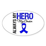 AlwaysMyHero Cousin Oval Sticker (50 pk)