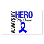 AlwaysMyHero Cousin Rectangle Sticker 50 pk)