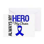 AlwaysMyHero Cousin Greeting Cards (Pk of 10)