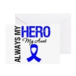 AlwaysMyHero Aunt Greeting Cards (Pk of 10)
