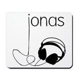 Jonas Bros Headphones Mousepad