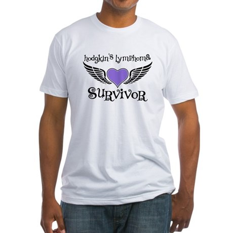 HodgkinsSurvivorWings Fitted T-Shirt