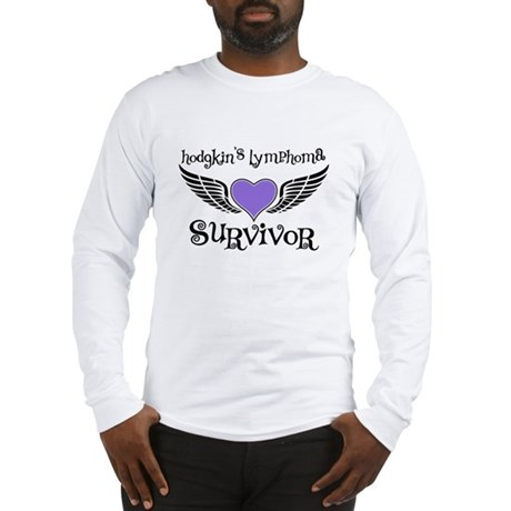 HodgkinsSurvivorWings Long Sleeve T-Shirt