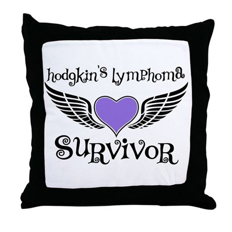 HodgkinsSurvivorWings Throw Pillow