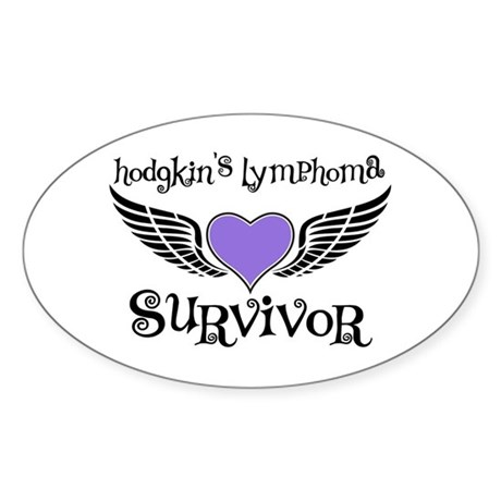HodgkinsSurvivorWings Oval Sticker (10 pk)