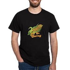 Me So Corny Black T-Shirt