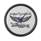 HodgkinsWarriorFighterWings Large Wall Clock