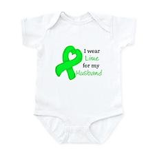 I WEAR LIME for my Husband Infant Bodysuit