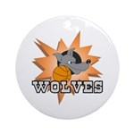 Wolves Basketball Team Ornament (Round)