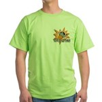 Wolves Basketball Team Green T-Shirt
