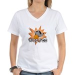 Wolves Basketball Team Women's V-Neck T-Shirt