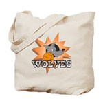 Wolves Basketball Team Tote Bag
