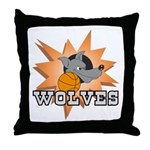 Wolves Basketball Team Throw Pillow