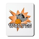 Wolves Basketball Team Mousepad