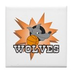 Wolves Basketball Team Tile Coaster
