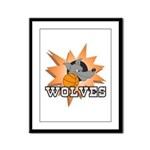 Wolves Basketball Team Framed Panel Print