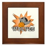 Wolves Basketball Team Framed Tile
