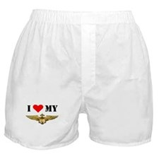 Unique Proud navy wife Boxer Shorts