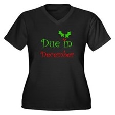 Due in December (holiday) Women's Plus Size V-Neck