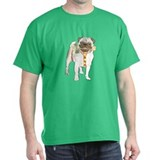 Holiday Pug Black T-Shirt