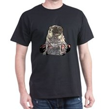 Senior Pug Black T-Shirt