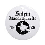 Salem Massachusetts Ornament (Round)
