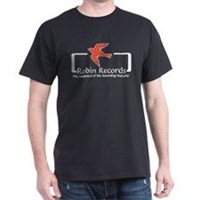 Robin Records Black T-Shirt