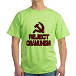 Reject Obamunism Green T-Shirt