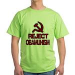 Reject Obamunism Green T-Shirt
