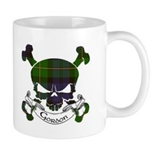 Gordon Tartan Skull Coffee Mug