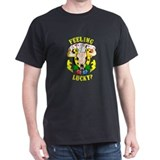 Vintage Feeling Lucky Black T-Shirt