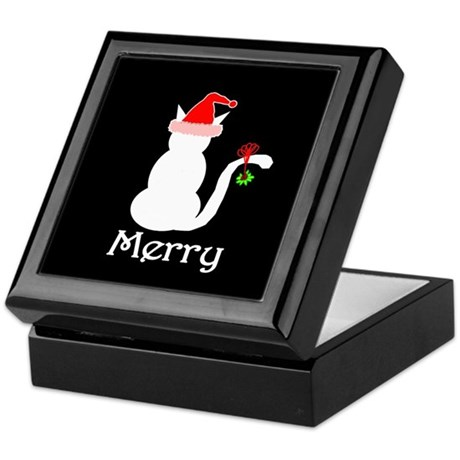 Merry Cat Christmas Keepsake Box