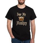 Fear My Monkey Funny Black T-Shirt