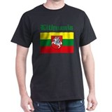 Lithuanian Flag Black T-Shirt