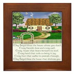 irish house blessing framed tile traditional house