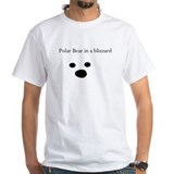 Polar Bear in a blizzard Mens Shirt