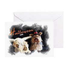 Yorkie Halloween Cutie Greeting Card