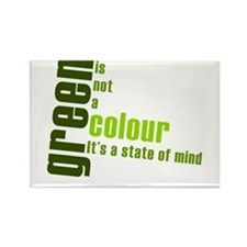 Green - State of Mind Rectangle Magnet