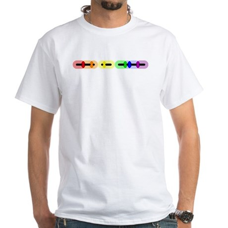 Gay Morse Bar White T-Shirt