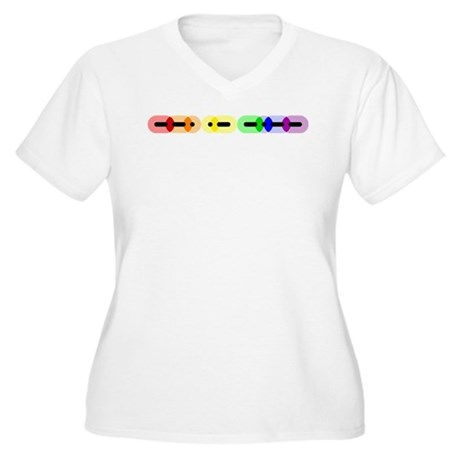 Gay Morse Bar Women's Plus Size V-Neck T-Shirt