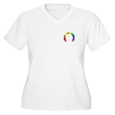 Gay Pocket Morse Women's Plus Size V-Neck T-Shirt