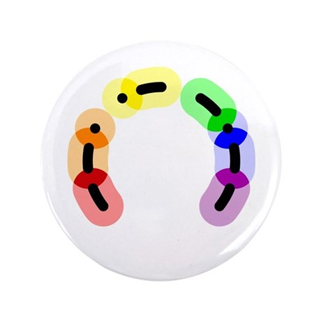 "Gay Morse Arc 3.5"" Button (100 pack)"