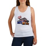Dodge Challenger Gas Station Scene Women's Tank To