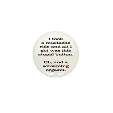Mustache Ride Souvenir Mini Button (10 pack)
