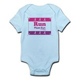 Race Bib Run Mom Onesie