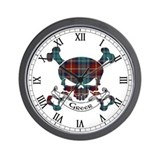 Greer Tartan Skull Wall Clock